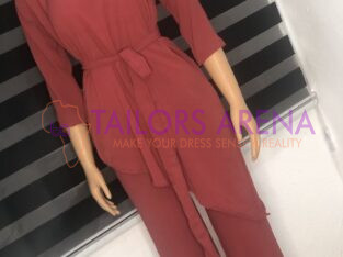 Top with palazzo trousers